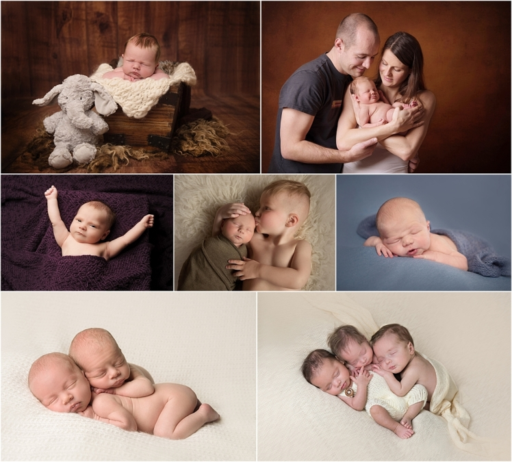 Tiny Baby Studio Newcastle Newborn and Baby Photography Montage