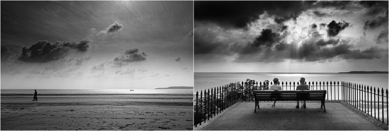 Our Holiday Facebook Photo Competition Neil-v-Karen Tenby Black and White