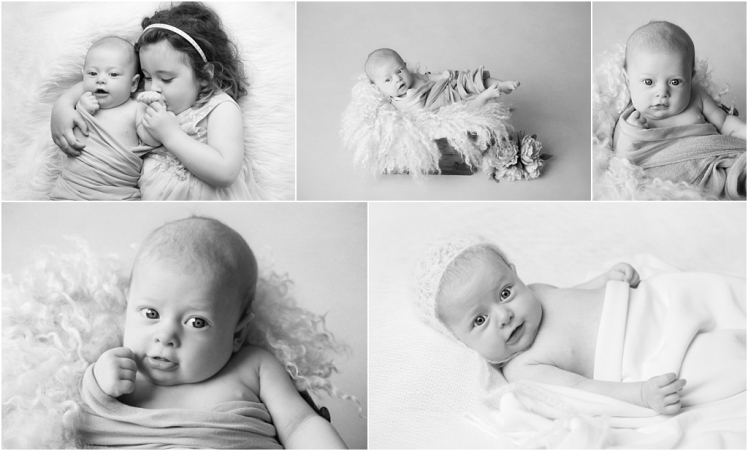 Tiny Baby Studio Newcastle Newborn Photographer Older Newborns Black and White