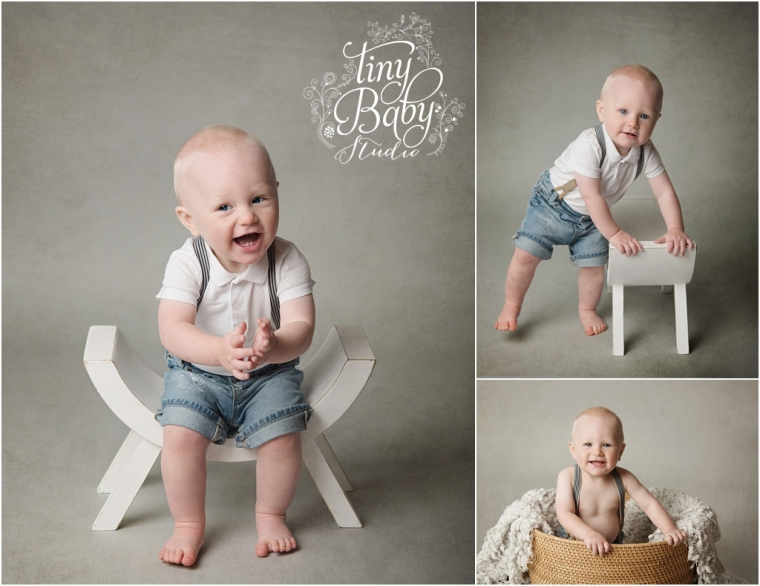 Tiny baby studio newcastle newborn baby photographer newborn first birthday photoshoot
