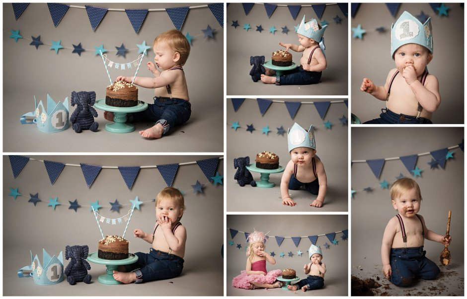 Tiny Baby Studio Newcastle Newborn Photographer Cake Smash First Birthday
