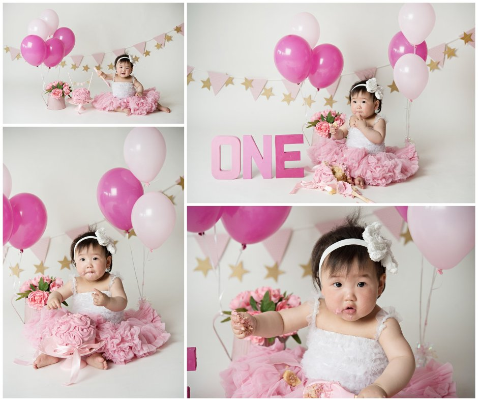 Tiny Baby Studio Newcastle Newborn Photographer Pink Cake Smash