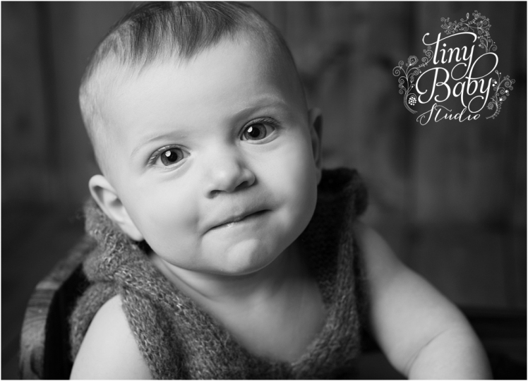Tiny Baby Studio Newcastle newborn baby photographer 7 month boy