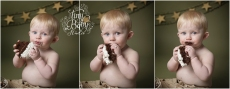 Tiny Baby Studio Newcastle newborn baby photographer first birthday cake smash