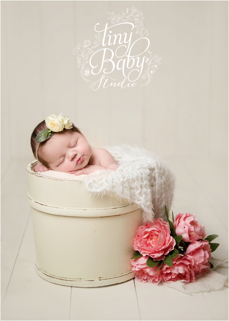 Tiny Baby Studio Newcastle newborn baby photographer newborn baby in prop