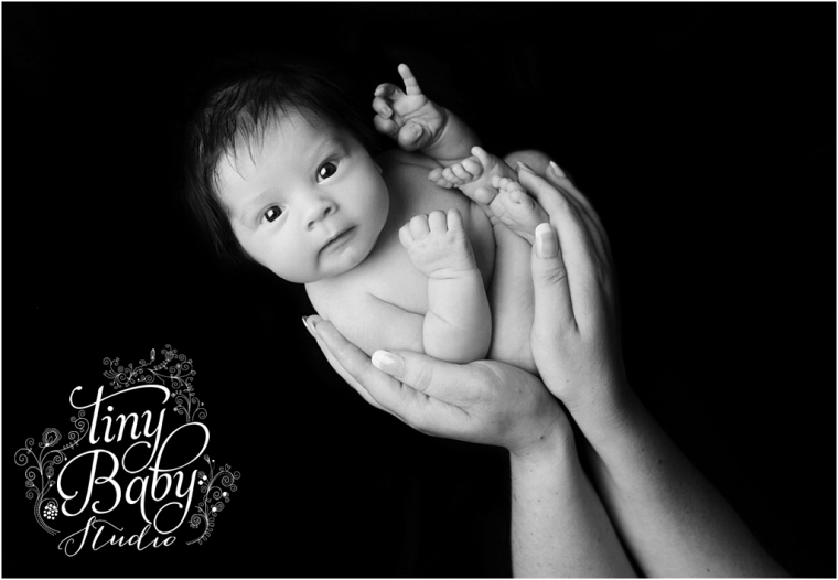Tiny Baby Studio Newcastle Newborn Photographer Parents Hands