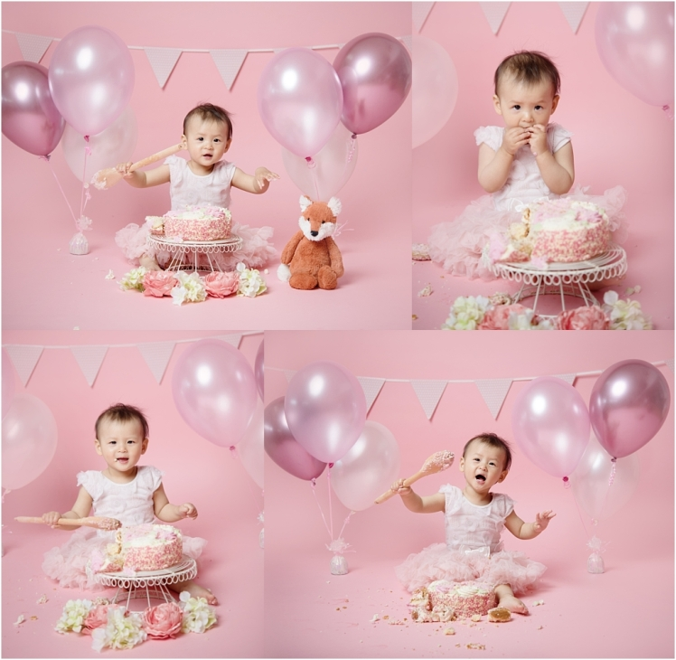 Tiny Baby Studio Newcastle Cake Smash for First Birthday Girls