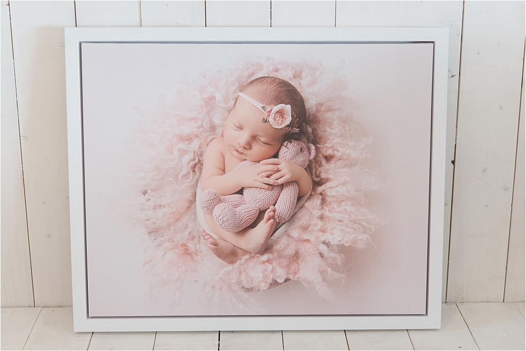 Tiny Baby Studio Newcastle Newborn Photographer Karen McGowran Framed Canvas Large