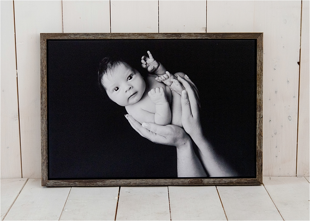 Tiny Baby Studio Newcastle Newborn Photographer Karen McGowran Framed Canvas Narrow