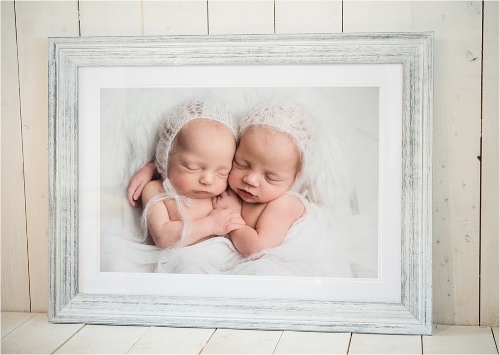 Tiny Baby Studio Newcastle Newborn Photographer Karen McGowran Premium Framed Print